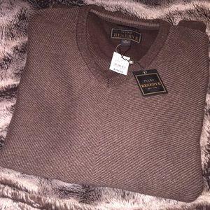Jos a bank reserve Italian yarn brown sweater new